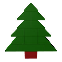simple Christmas LEGO Tree