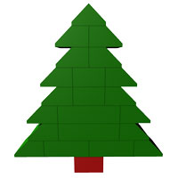 simple Christmas LEGO Tree II