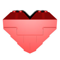 perfect LEGO heart