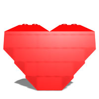 regular LEGO heart