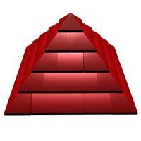 elegant lego pyramid with perspective camera angle