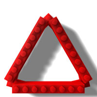 simple LEGO triangle