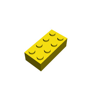 2x4 yellow brick