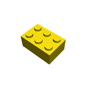 2x3 yellow brick