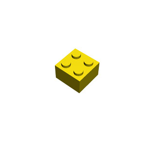2x2 yellow brick