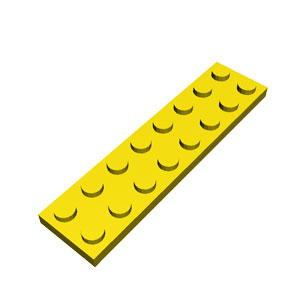 2x8 yellow plate