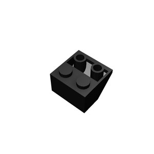 2x2/45&deg black roof tile inverted