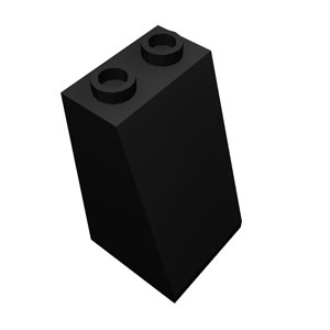 2x2x3/73&deg black roof tile