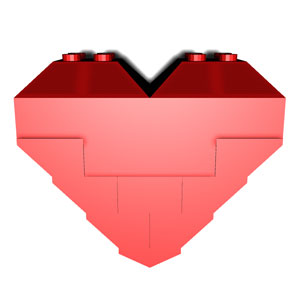 perfect LEGO heart cube